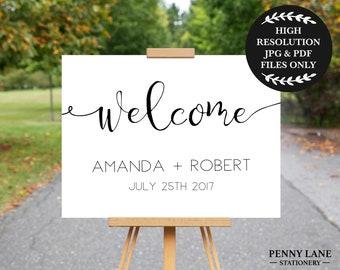 Wedding Welcome Sign, Wedding Welcome Sign Printable, Wedding Welcome Board, Wedding Welcome Poster, Wedding Posters, Welcome to our wedding