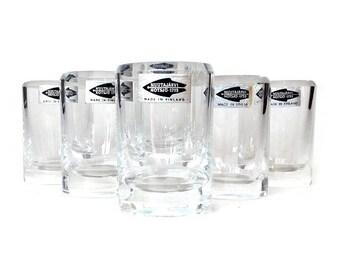 SALE! Mid Century Shot Glasses, Nuutajarvi Notsjo 1793, Finland, Collectible Glass