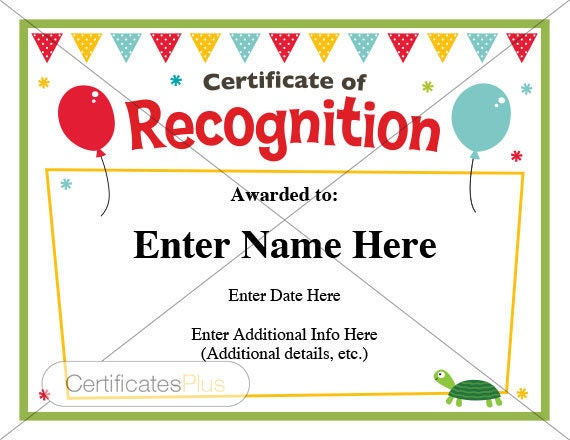 Certificate of recognition kid certificate child certificate of recognition kid certificate child certificate teacher certificate diploma teacher gift student certificate yadclub Images