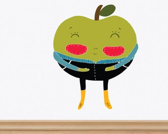 La Pomme (The Apple) Removable Wall Sticker