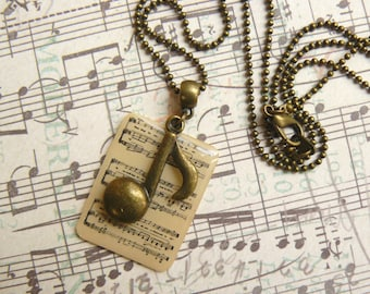 Pendant brass sheet music and notes