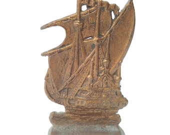 Vintage brass Boat statue collectible Home decoration English Style