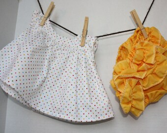Adorable, Customizable Infant Sundress and Bloomers - 0-3 mo size