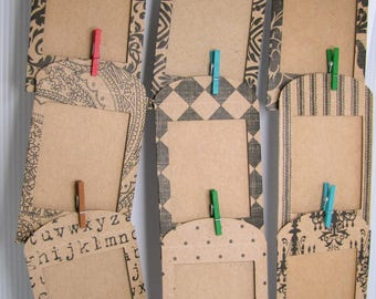 Instax Mini Paper Envelope Style Frames 10pc - Kraft