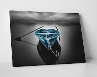 Bote Fugado Dark - Pop by Moises Levy. Gallery Wrapped Canvas Print