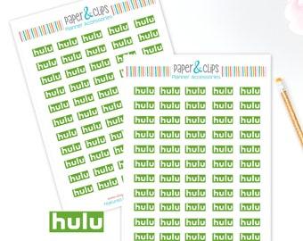 55 Hulu Logos and Reminder Stickers, Planner Stickers, Reminder Stickers, Happy Planner, Calendar Stickers, Erin Condren Stickers