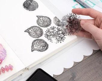 Jane Davenport Mandala Acrylic Stamps Paper Crafts/Stamping Supplies