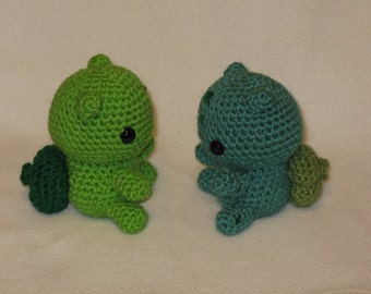 Chibi Bulbasaur OR Shiny Bulbasaur amigurumi plush