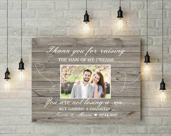 Parents Of the Groom Wedding Gift | Rustic Wood Art Print | Parents Of the Bride | Mother Of the Bride Gift | Mother Of the Groom -67277