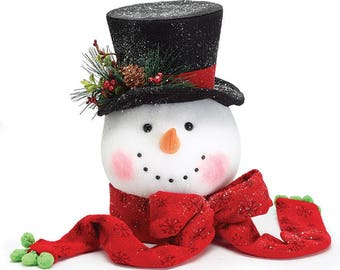 Snowman Head Tree-Topper- JACK Frost- He's BACK--- Ships July 2018, a sell out last season, Pre-Order Yours Today, He is Fabulous