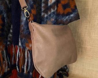 Leather mini hobo bag - leather crossbody bag