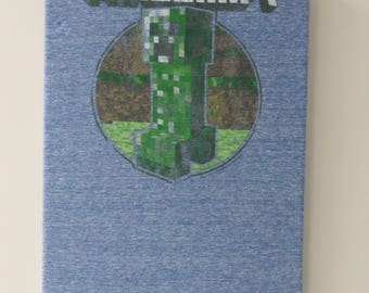 Minecraft video game wall art
