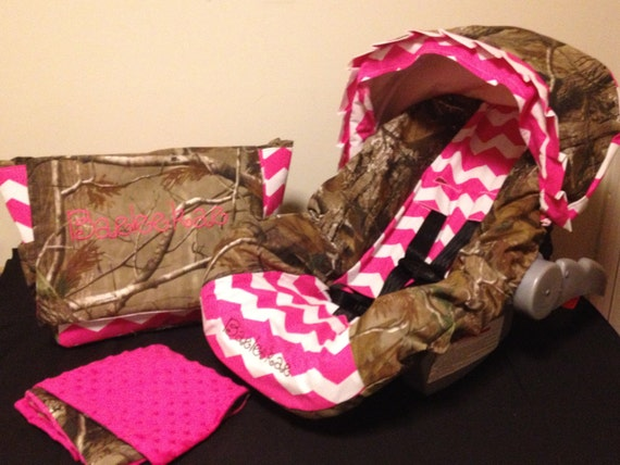 Items Similar To 3 Piece Set Pink Chevron Amp Realtree Camo