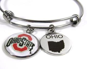Ohio State University - Charm Bracelet - Buckeyes