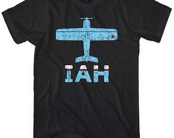 Fly Houston T-shirt - IAH Airport Tee - Men and Unisex - XS S M L XL 2x 3x 4x - Houston Tee - 3 Colors