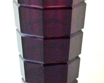 Modern Amethyst Art Glass Vase c. 1940