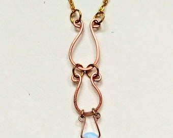 Moonstone and copper