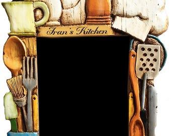 Kitchen Carved Personalized Menu Chalkboard