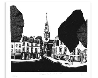 St James's, Clerkenwell Limited Edition Screen Print
