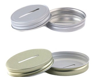 Mason Jar Coin Slot Lids - Regular Mouth and Wide Mouth - Mason Jar Piggy Bank