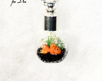 Ecosphere Necklace, Reserved, Custom Listing for Dee, Kawaii Pendant Necklace, Nature Necklace