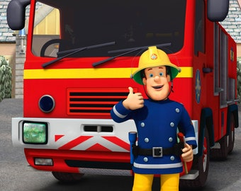 FIREMAN SAM Poster (a) - Choose your size - A4/A3/A2
