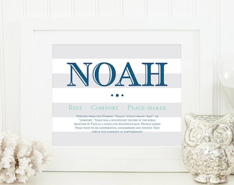 Baby boy gift etsy name meaning art name meaning baby baby room name art personal baby gift negle Choice Image