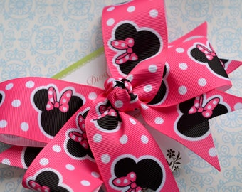 M2M Hot Pink Mouse XL Diva Bow