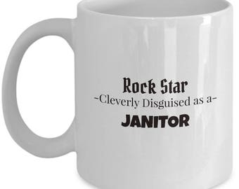 Janitor Gift Coffee Mug | Present for Cleaner | School Janitor Tea Mug
