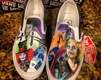 Custom painted Tim Burton Vans