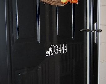 House Number Vinyl Decal