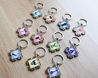 RPG Character Class Key Ring, Pathfinder, Dungeons and Dragons, Gamers Keyring, Geek Gift, RPG Classes, Gamers Gift, Tabletop Games,