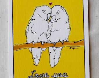 I Love You Card- Lovebirds