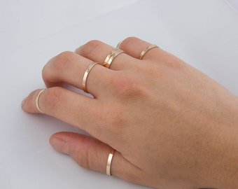 2.25mm wide Gold Filled Band Ring, 14K Gold Filled Rings, Skinny Wide Band Gold Ring, Sizes from 2 to 10,  SR264