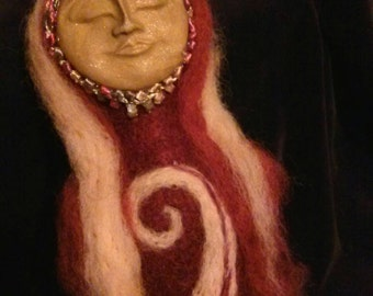 Red Spirit Art Doll