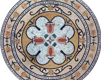 Circular Flower Mosaic - Gianna