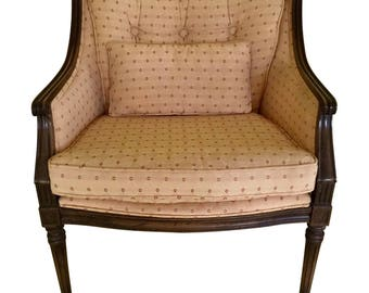 Vintage Upholstered Accent Side Chair