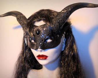 Black Satyr Witch  mask