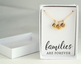 Mothers Day Gift Idea - Family Necklace Gold - Kids Initial Necklace - Mom Necklace Gold - Family Jewelry Necklace - Dainty Initial Necklace