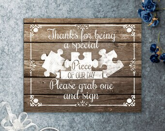 Please sign a heart Wooden Printable Wedding Sign Guestbook