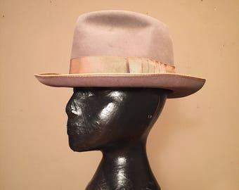Scott Ltd Fedora Hat - New York Fedora - 1950s? - 7 1/8? -  Custom Fedora - Vintage Felt Fedora Hat - Gangster Hat - Godfather