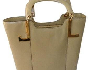 LANVIN Paris Patent Leather Handbag