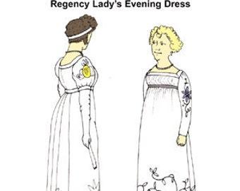 Regency Evening Dress Pattern