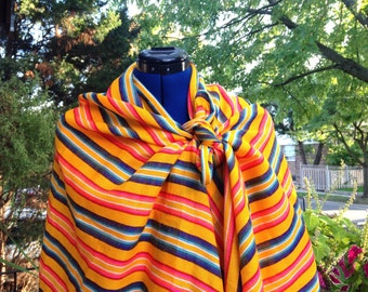 Mexican Yellow Rebozo, Aztec Shawl Long Scarf, Tribal Wrap, Doula and Midwife Labour Tools Baby Shower Gift Aztec Style Frida Costume