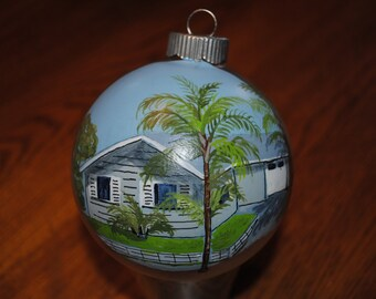 Custom Hand Painted Christmas Ornament - Sold this is just for display