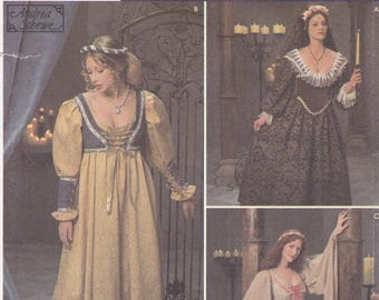FREE US SHIP Simplicity 8192 Sewing Pattern Renaissance Medieval Costume Women Miss Size 10 12 14 Bust 32.5 34 36  Head Garland Tunic Uncut