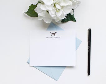 Personalized Stationery, Monogram Stationery, Custom Stationery, Dog Stationery, Labrador Retriever, Flat Notecards