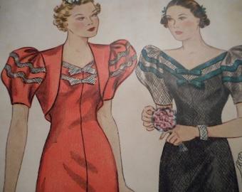 RARE Simplicity 2377 Dress and Bolero Sewing Pattern Size 18 Bust 36