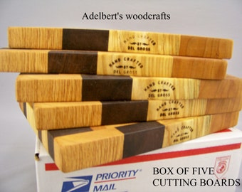 Cutting Boards. Dealer Special Box Of 5 pc.  Shipped by priority mail 2 to 3 days delivery.