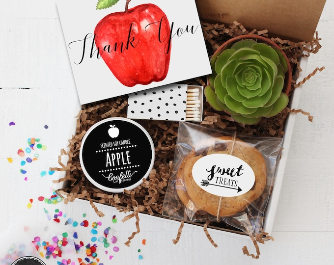 Thank You Teacher Gift Box -  Appreciation Gift | Teacher Gift | Teacher's Aide Gift |  End of The Year Gift | Professor Gift